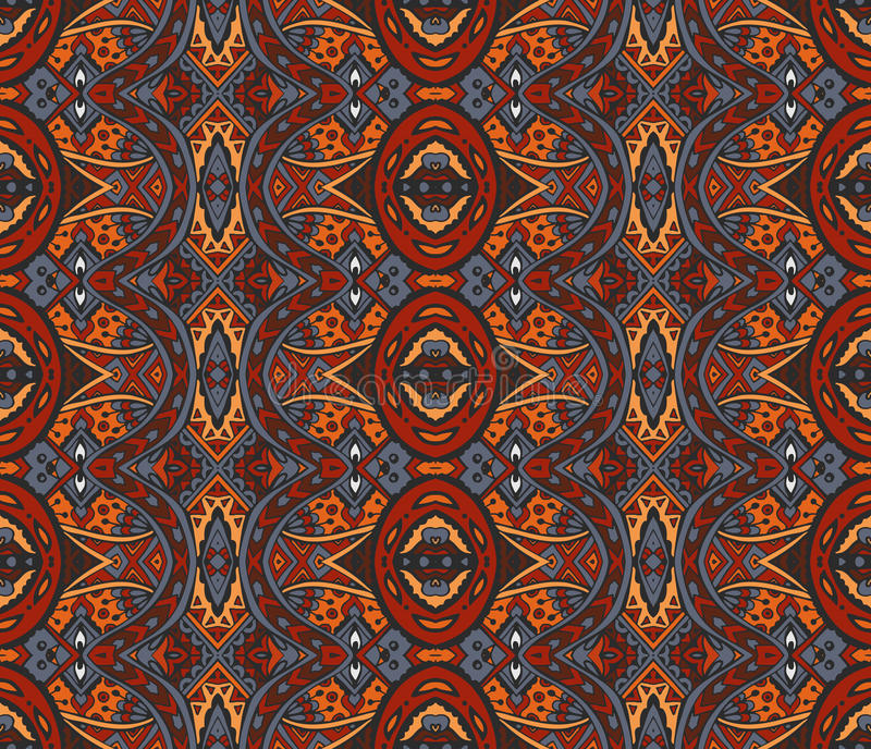 Abstract mosaic vintage ethnic seamless pattern royalty free illustration