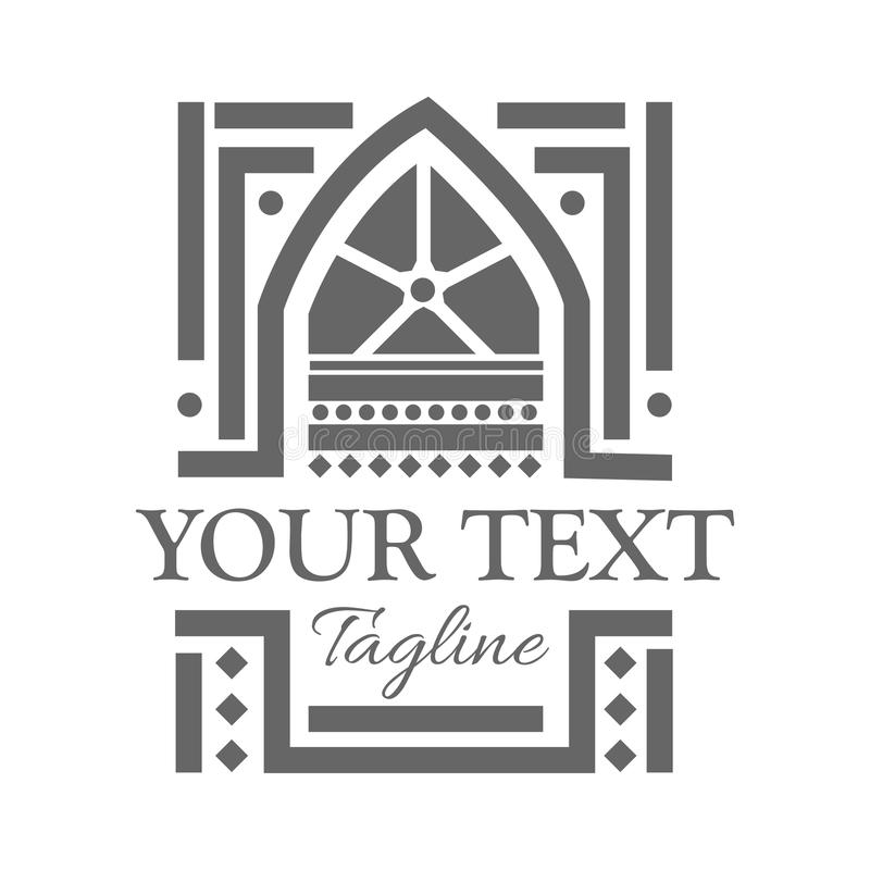 Mosque Logo , Illustration In Vector Format. Flat Design
