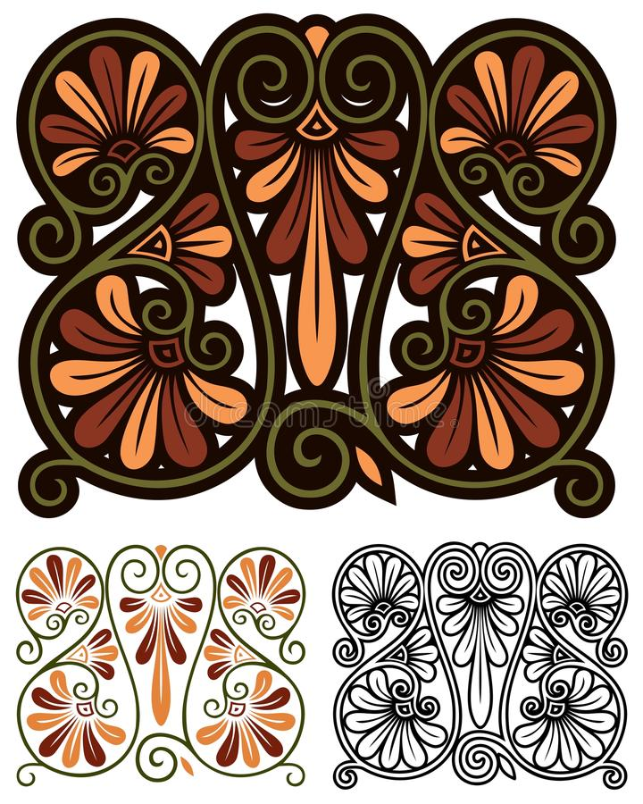 abstract motif stock vector illustration of nouveau. Black Bedroom Furniture Sets. Home Design Ideas