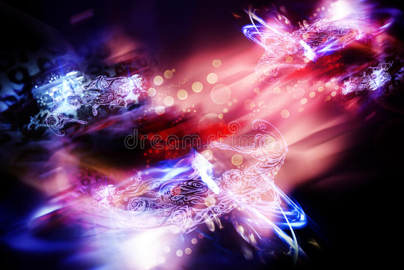 Abstract motion background. Blue and red colors stock photo