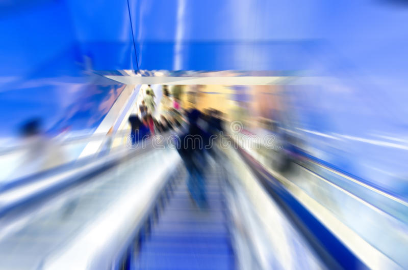 Abstract motion background. In escalator stock photo