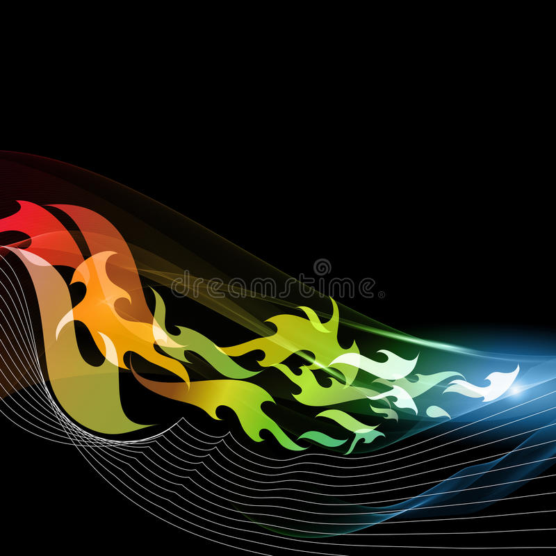 Abstract motion background - flames