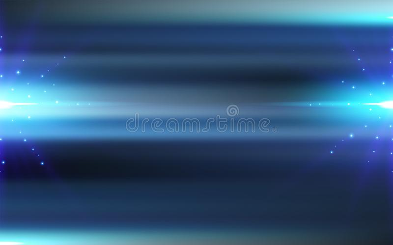 Abstract motion blurred blue background technology concept with lighting burst effect. royalty free illustration