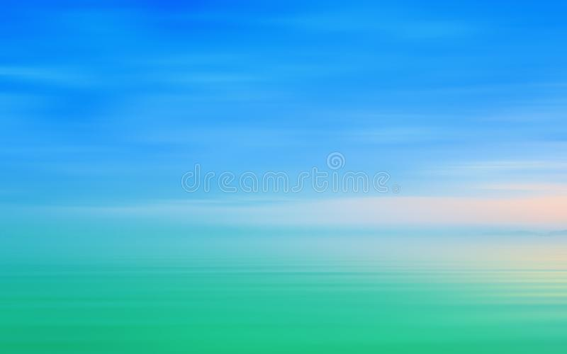 Abstract Motion Blurred Seascape Background In Blue Green Tone royalty free stock images