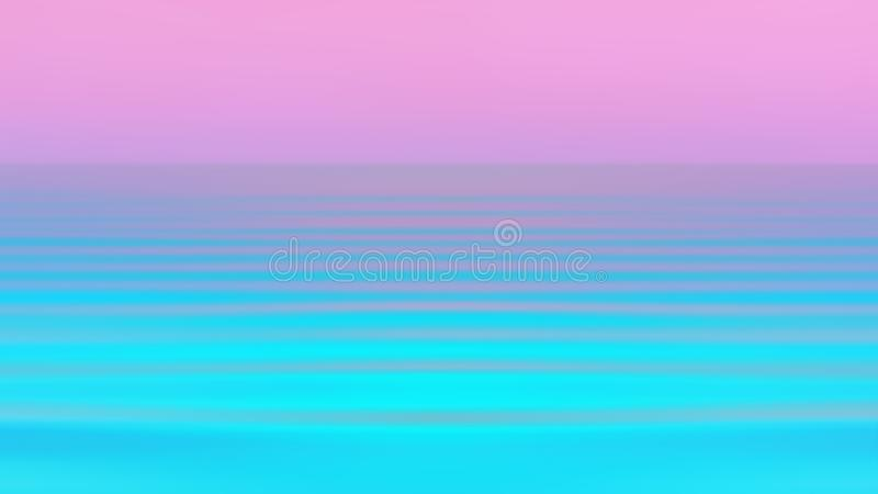 Abstract Motion Blurred Seascape Background In Vibrant Holographic Neon Colors. Colorful reflection of the sunset in the flowing water. Abstract motion blurred stock photo