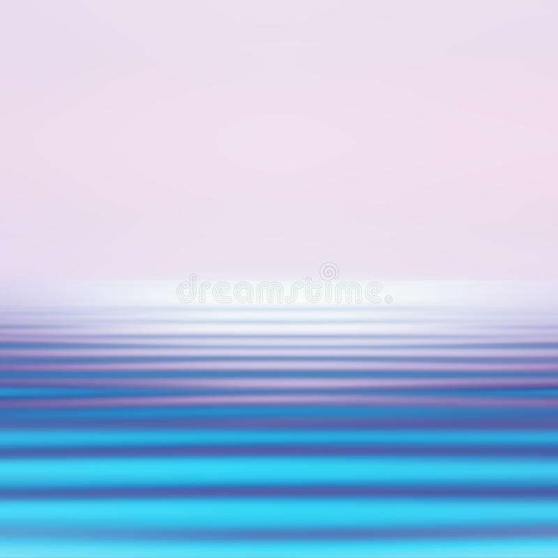 Abstract Motion Blurred Seascape Background In Vivid Holographic Colors royalty free illustration