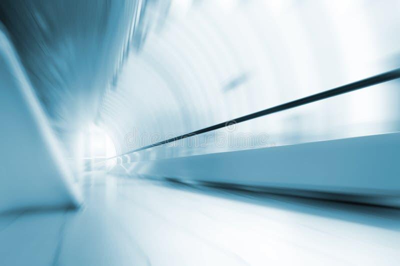 Abstract motion in long corridor royalty free stock photos