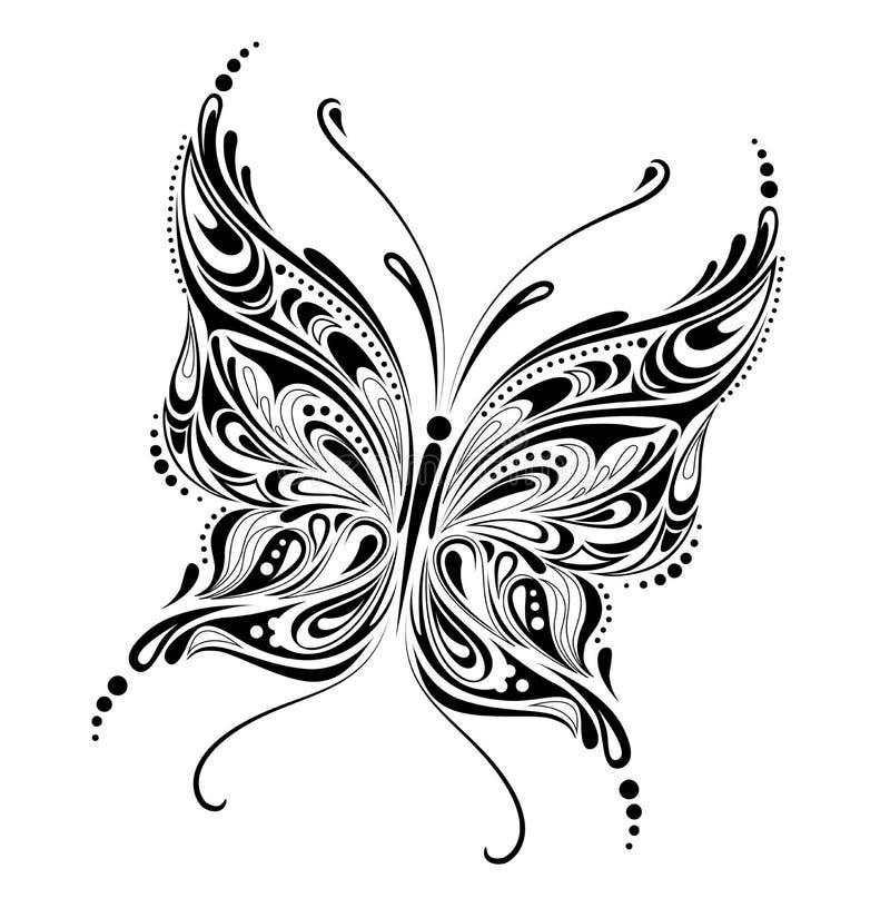 abstract motyla royalty ilustracja