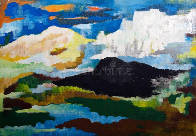Abstract mountain landscape vector illustration