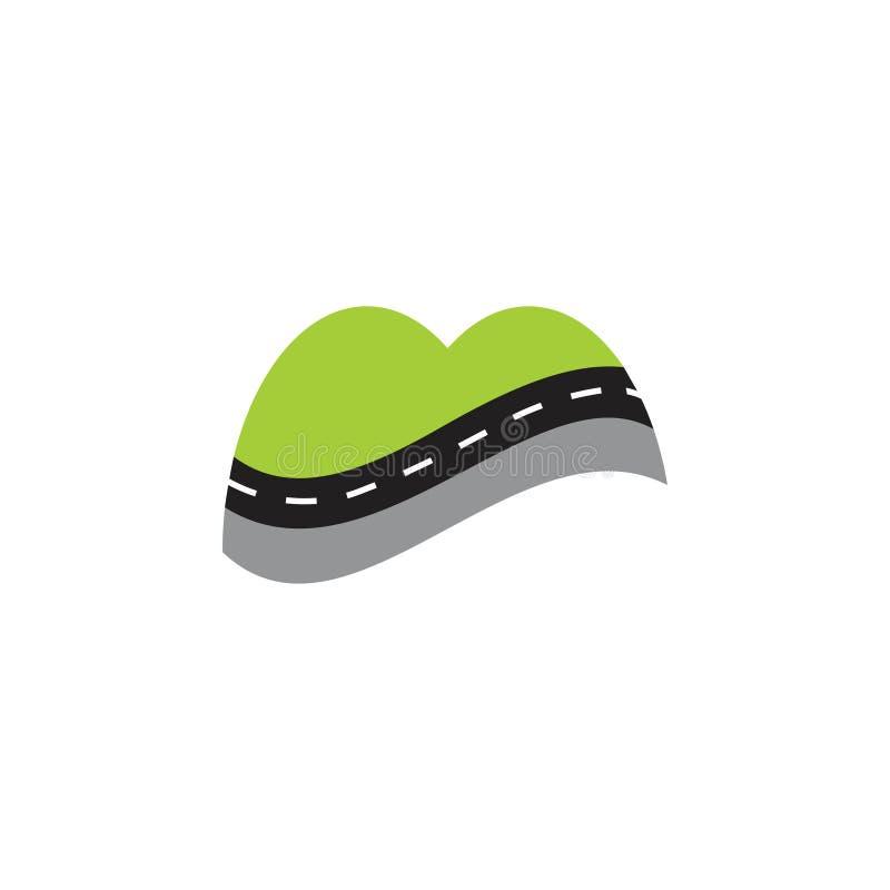 Abstract mountain street outdoor symbol logo vector royalty free illustration