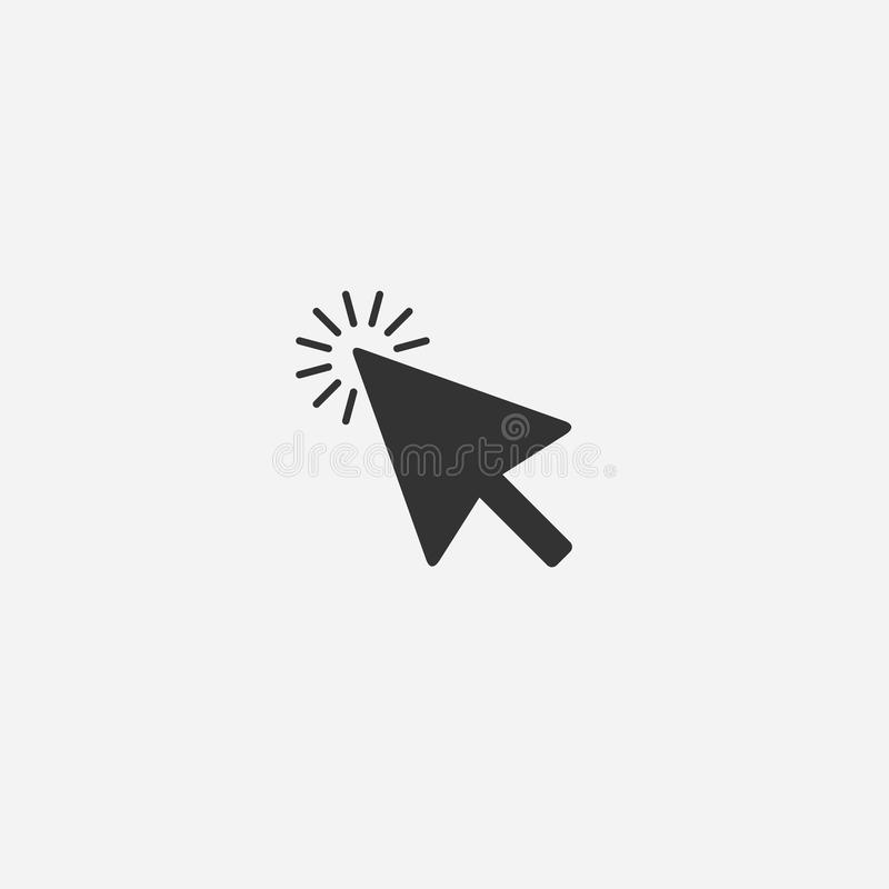 Abstract mouse cursor vector icon stock illustration
