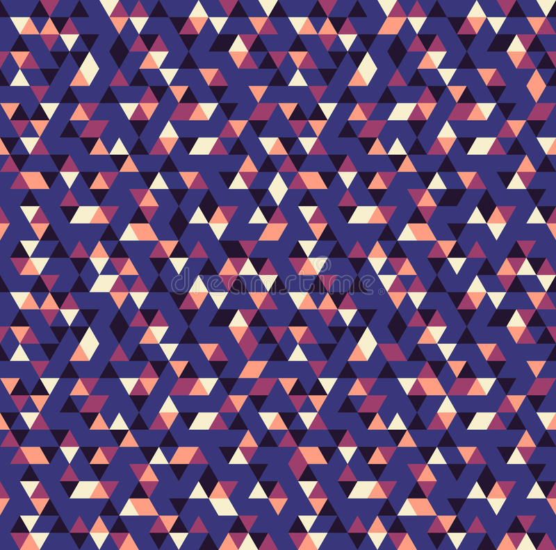 Abstract mozaïek naadloos patroon stock illustratie