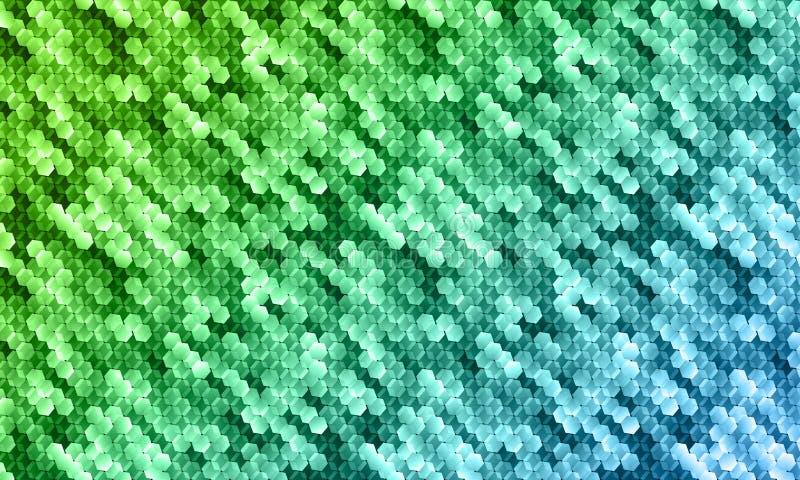 Abstract mozaïek vectorpatroon voor het digitale scherm vector illustratie