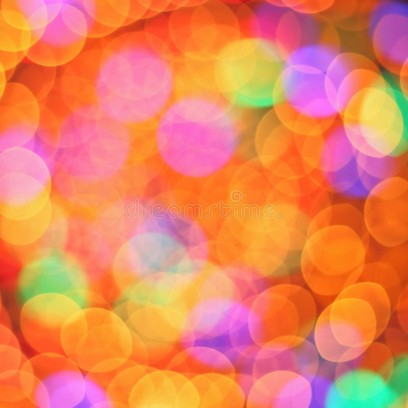 Abstract multi-colored bokeh photography royalty free stock photography