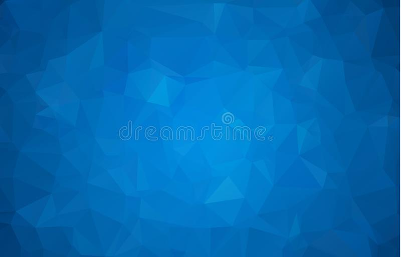 Abstract multicolor dark blue geometric rumpled triangular low poly style gradient illustration graphic background. Vector polygon. Al design for your business vector illustration