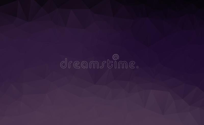 Abstract multicolor dark purple geometric rumpled triangular low poly style gradient illustration graphic background. Vector polyg. Onal design for your business stock illustration