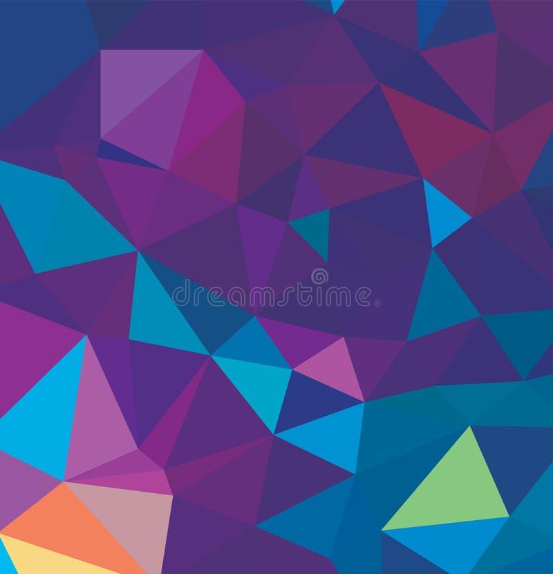 Abstract multicolor full Color rainbow background. Vector polygonal design illustrator stock illustration