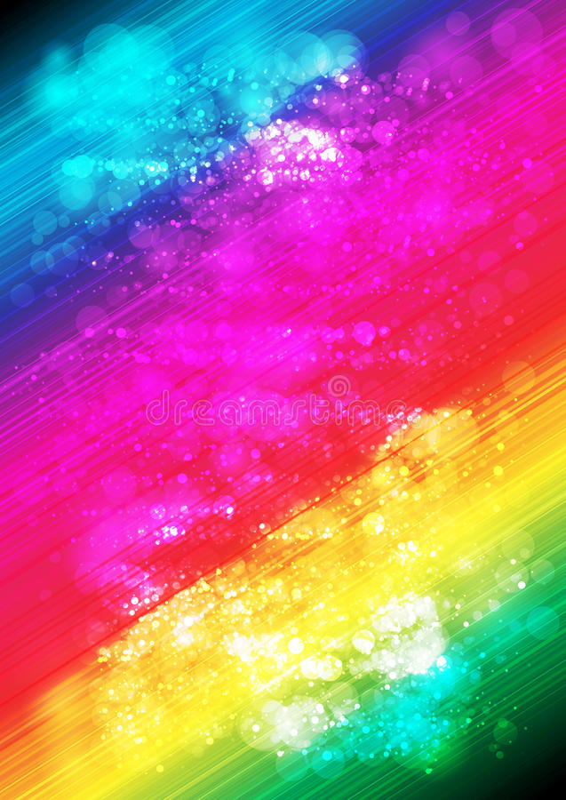 Abstract multicolor line and halo background_04 stock illustration