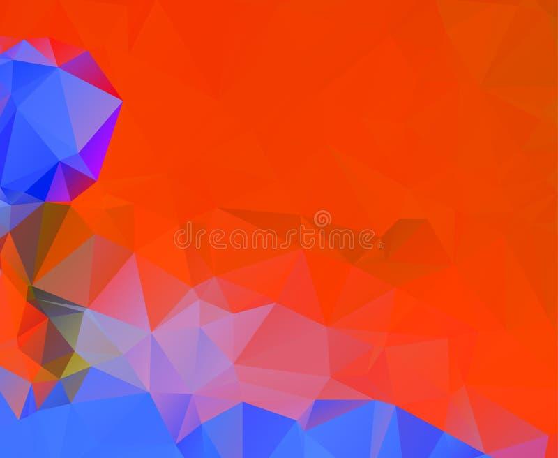 Abstract multicolor orange son background. Vector polygonal design illustrator. Eps.10 royalty free illustration