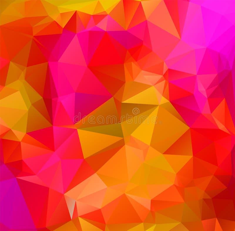 Abstract multicolor orange son background. Vector polygonal design illustrator royalty free illustration