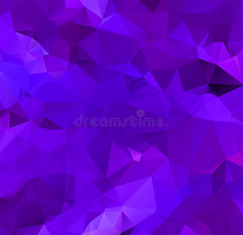 Abstract multicolor purple and blue background. Vector polygonal design illustrator royalty free illustration