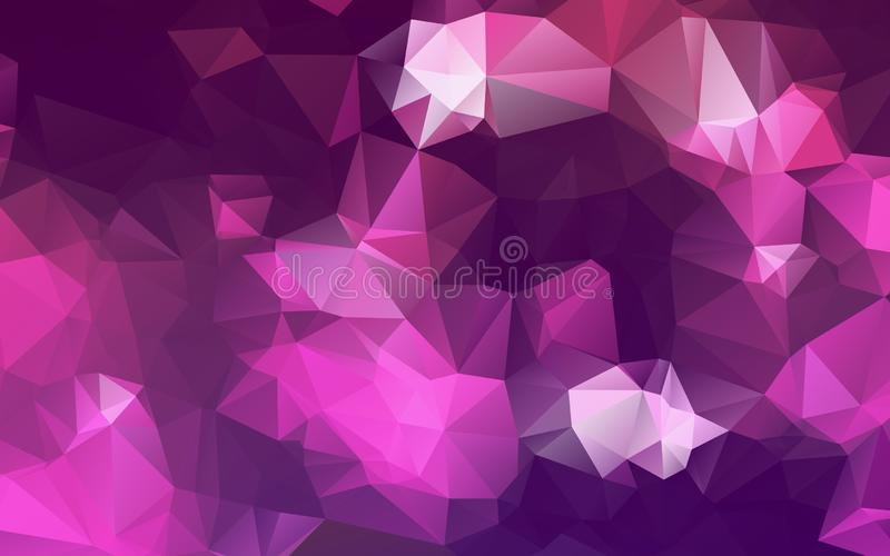 Abstract Multicolor purple, pink polygonal illustration, which consist of triangles. Geometric background in Origami style with g royalty free illustration