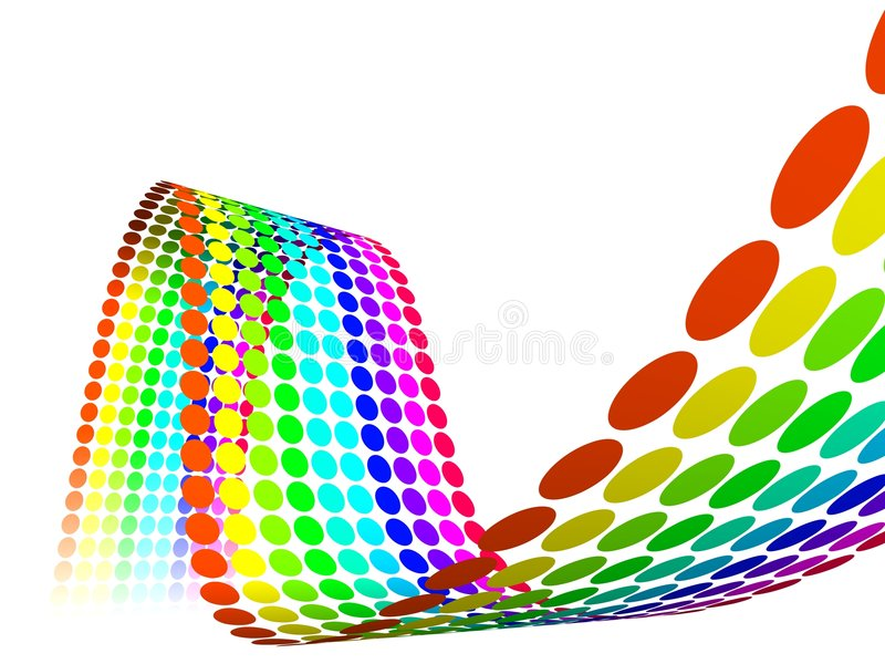 Download Abstract Multicolor Rainbow Circles Stock Illustration - Illustration: 4002262
