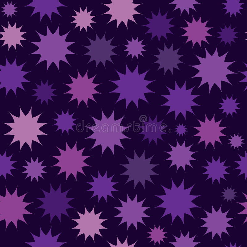 Abstract multicolor star firework background. Circles seamless pattern. stock illustration
