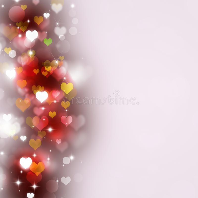 Multicolor Hearts Valentine Background royalty free stock image