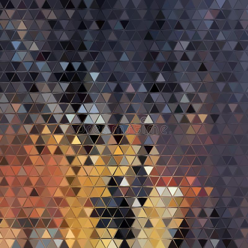 Abstract multicolored background, triangle texture, digital illustration royalty free stock photos