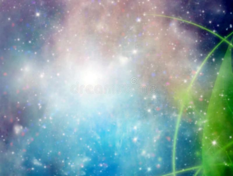 Abstract multicolored elegant background. Blurred style. Abstract multicolored elegant background blurred style green blue space sky astronomy astrology galaxy royalty free stock photography