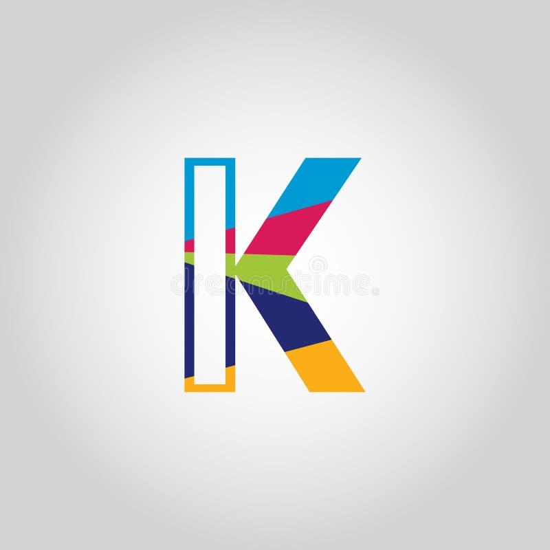 Abstract Multicolored K letter Logo design vector icon vector illustration