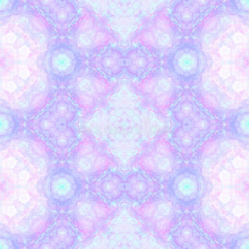 Abstract multicolored kaleidoscopic background. Seamless pattern for wrapping papers and fabric prints royalty free illustration