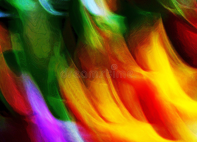 Abstract Multicolored Lights stock illustration