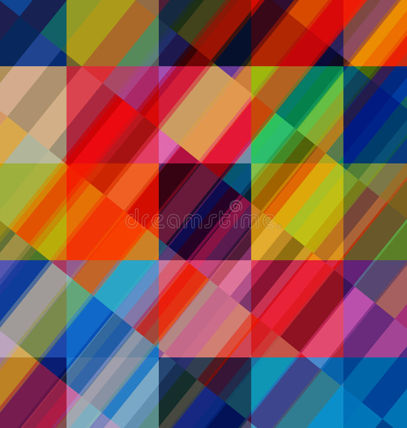 Abstract multicolored overlay backdrop royalty free illustration