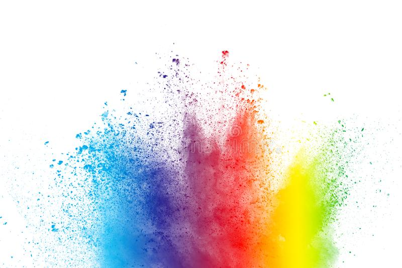 Abstract multicolored powder splatter stock image