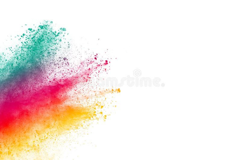 Abstract multicolored powder splatter stock photos