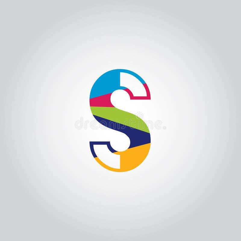 Abstract Multicolored S letter Logo design vector icon vector illustration