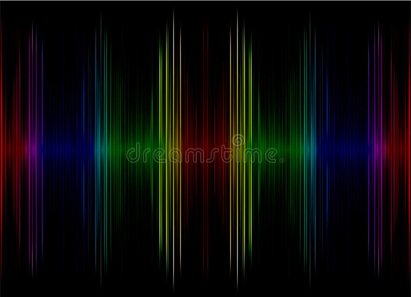 Abstract multicolored sound equalizer as background. vector illustration