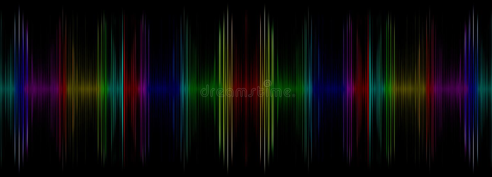 Abstract multicolored sound equalizer display. royalty free illustration