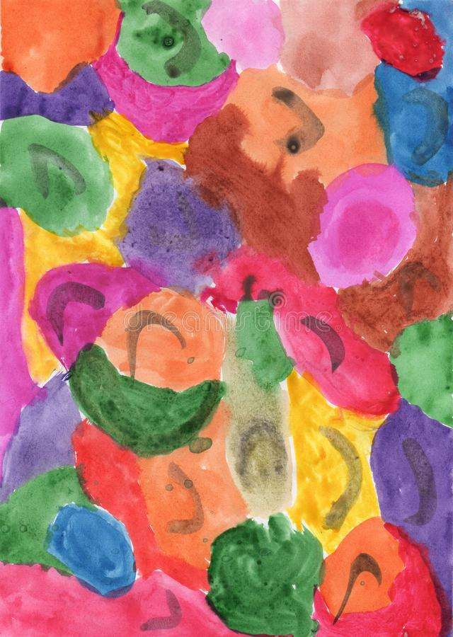 Abstract colored spots royalty free stock image