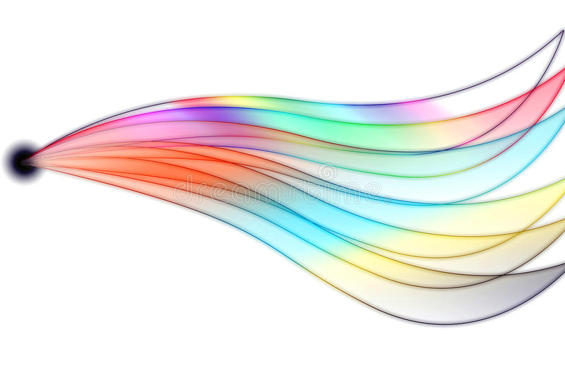 Abstract multicolored wave from blackhole