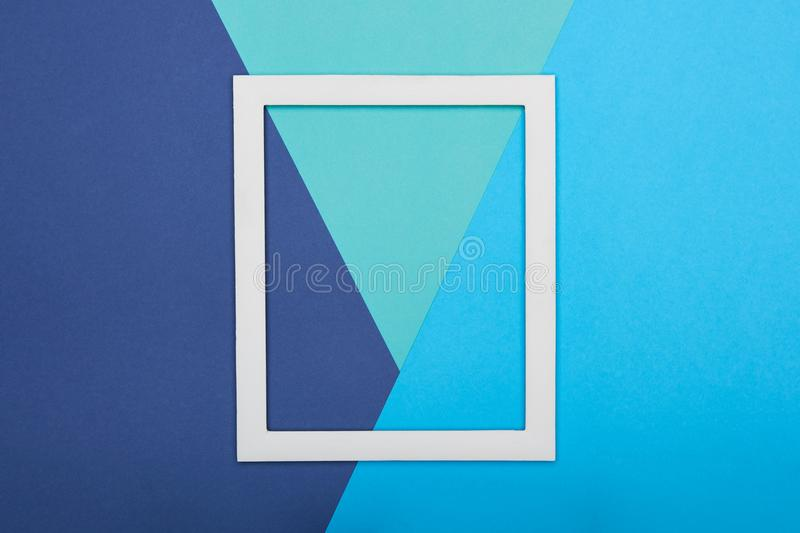 Abstract multicoloured paper texture minimalism background. Minimal composition with empty picture frame. Abstract multicoloured paper texture minimalism royalty free stock photos