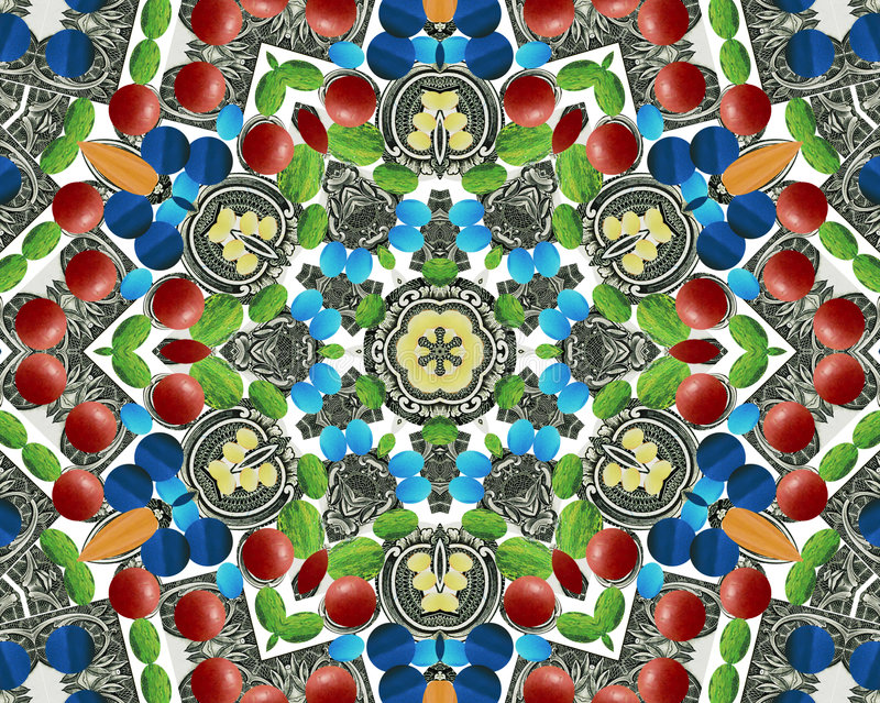 Download Abstract Multifinal Star With Patterns. Stock Photos - Image: 4969863