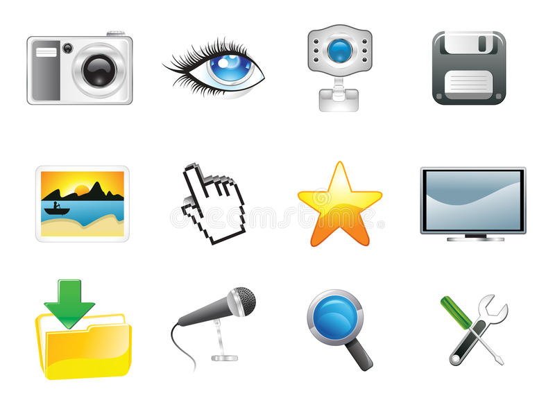 Download Abstract Multiple Media Icon Stock Vector - Image: 24647296