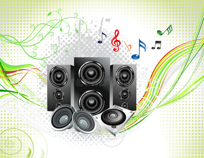 Abstract Multiple Music Instruments Background Royalty Free Stock Image