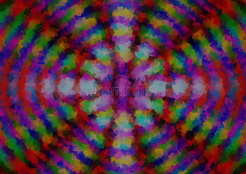 Abstract multy colour background with pattern stock illustration