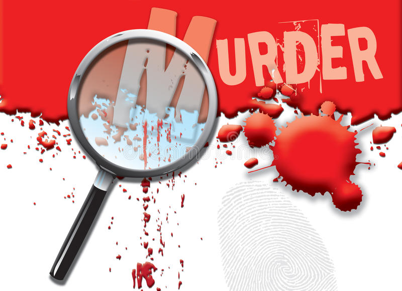 Abstract Murder stock image