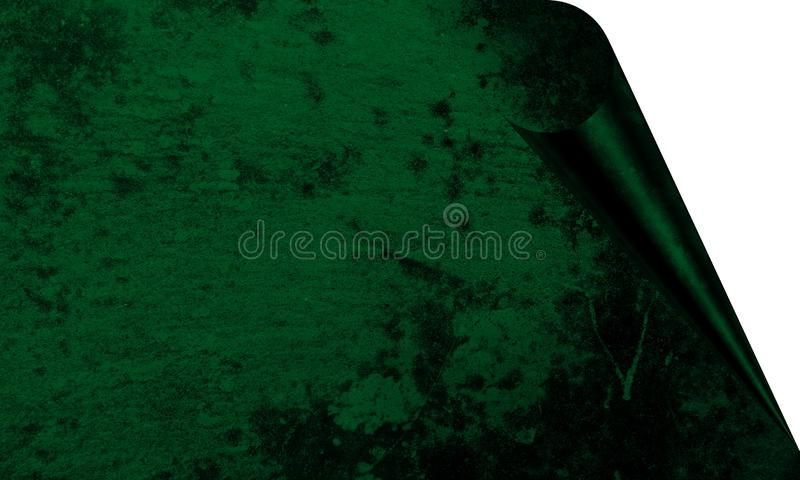Abstract Murky Green Color With Wall Texture Background Page Curl Effects Background Wallpaper. Many uses for advertising, book page, paintings, printing vector illustration