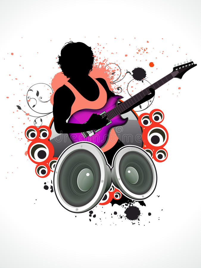 Free Abstract Music A Man With Guitar Stock Images - 19820594